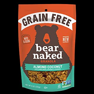 Bear Naked Almond Coconut Grain Free Granola - Paleo, Gluten-Free, Non-GMO, Kosher Dairy, Vegetarian Friendly - 8 Oz