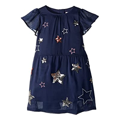Joules Kids Sequin Party Dress (Toddler/Little Kids/Big Kids) (French Navy) Girl
