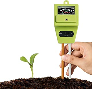 XLUX Soil Tester Meter, 3-in-1 Test Kit for Moisture, Light & pH, for Home and Garden, Lawn, Farm, Plants, Herbs & Gardening Tools, Indoor/Outdoors Plant Care Soil Tester