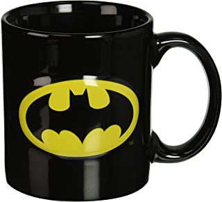 ICUP DC Batman Embossed Logo Ceramic Mug, 20 oz, Clear