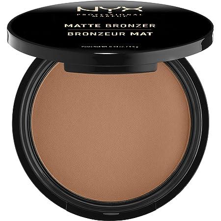 NYX Professional Makeup Polvos bronceadores Matte Bronzer, Polvos compactos, Sin brillos, Fórmula vegana, Tono: Dark Tan
