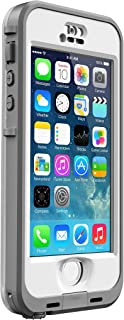 LifeProof NÜÜD SERIES Waterproof Case for iPhone 5/5s/SE - Retail Packaging - WHITE (WHITE/CLEAR) (Discontinued by Manufacturer)