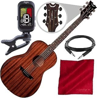Dean AX P MAH, AXS Parlor Acoustic Guitar, Mahogany with Tuner and Accessory Bundle