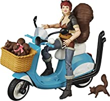 Marvel Legends Series 15-cm Collectible Action Figure Unbeatable Squirrel Girl With Vehicle and Accessories
