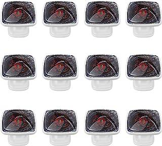 Boutons D'armoire 12 Pcs Poignés Poignée De Champignons Porte Poignées avec Vis pour Cabinet Tiroir Cuisine,Conception tri...