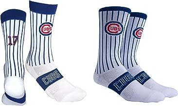 PKWY by Stance Men's 2-Pack Chicago Cubs Team & Kris Bryant #17 Player Uniform Socks