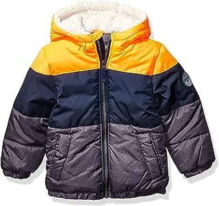 OshKosh B'Gosh 男孩重量级冬季夹克,带夏尔巴内衬