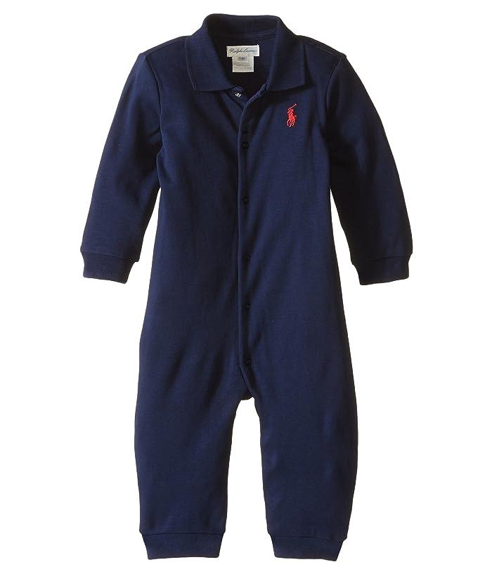 Ralph Lauren Baby Interlock Solid Coveralls Infant