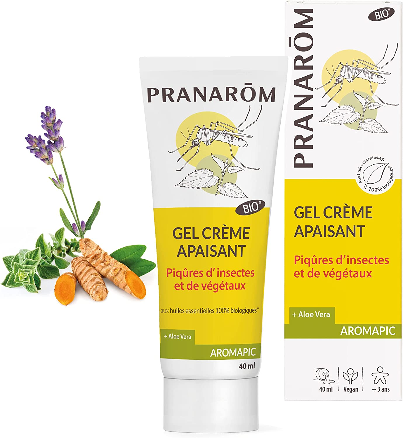 Pranarôm Insect and Free shipping Plants Bites 4 Gel Soothing Cream Many popular brands Organic