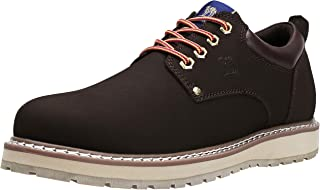Mens Hiking Shoes Cowhide Leather Low-Cut Work Boots Breathable Cowboy Outdoor Walking