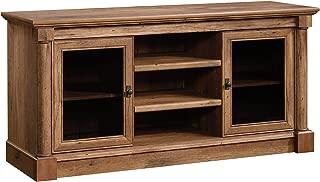 sauder palladia panel tv stand vintage oak