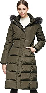 Women's Quilted Down Jacket Winter Long Coat Hooded Stand...