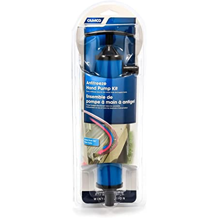 Camco Antifreeze Hand Pump Kit- Pumps Antifreeze Directly Into the RV Waterlines and Supply Tanks, Makes Winterizing Simple and Easier (36003) , Blue