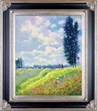 La Pastiche Walk in The Meadows at Argenteuil with Corinthian Aged Silver Framed Oil Painting, 34