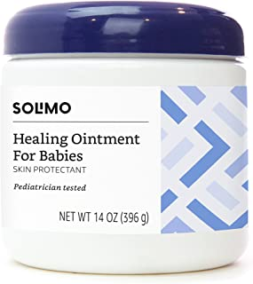 Amazon Brand - Solimo Healing Ointment for Babies, Pediatrician Tested, 14 Ounce