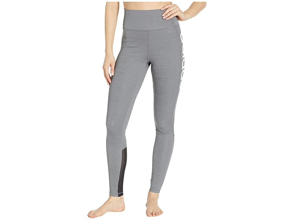 adidas Designed-2-Move High-Rise Long Tights (Dark Grey Heather) Women