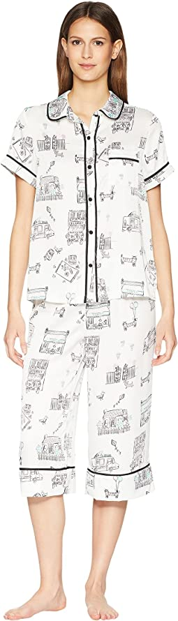 Main Street Satin Capris Pajama Set