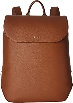 Plume Elegance Leather Laptop Medium Backpack