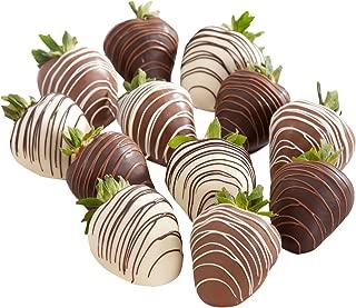 Golden State Fruit Chocolate Covered Strawberries, 12 Dark, Milk & White Delight