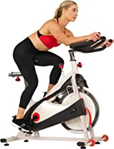 Sunny Health & Fitness Exercise Bike Premium Indoor Cycling with 40 LB Flywheel, Heavy Duty Crank and SPD Style / Caged Pedals - SF-B1509/C