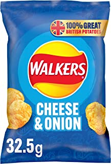 Walkers Cheese and Onion 32.5 g (Pack of 48)