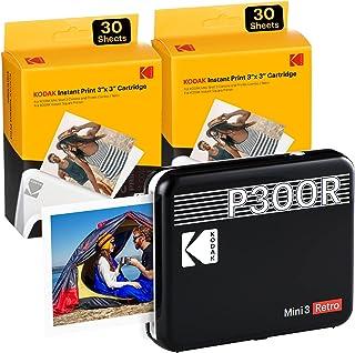 KODAK Mini 3 Square Retro Portable Printer - Social Media Photo Instant Printer Premium App iOS & Android Compatible Wirel...