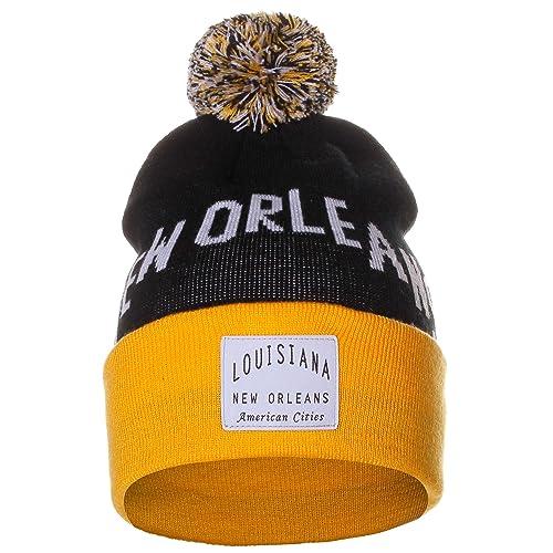 American Cities Unisex USA Fashion Arch Cities Pom Pom Knit Hat Cap Beanie c1e5635dc45b