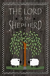 The Lord is My Shepherd Christian Faith Decorative Garden Flag, Double Sided, 12