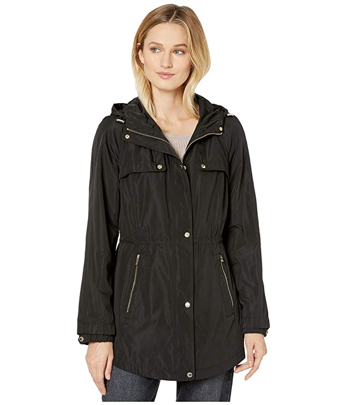 Anorak with Drawstrings (Black) Women's Clothing