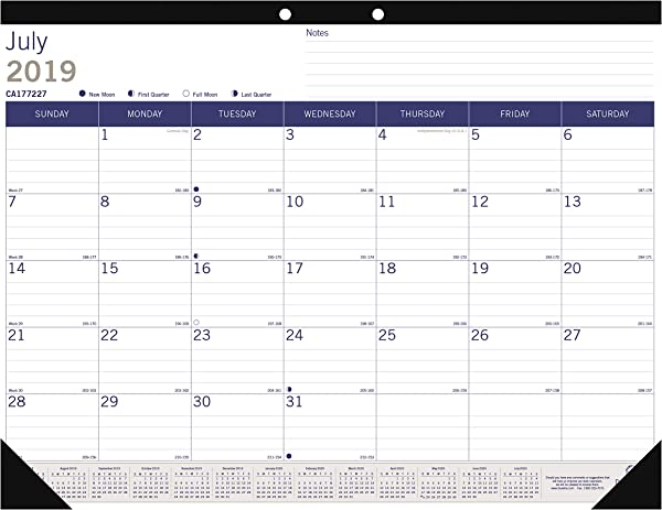 Blueline DuraGlobe Monthly Desk Pad Academic Desk Calendar 13 Month July 2019 To July 2020 22 X 17 Inches CA177227 20