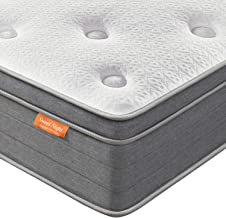 Queen Mattress, Sweet Night 12 Inch Soft Pillow Top Queen Size Mattress - Individually Wrapped Pocket Springs Hybrid Mattr...
