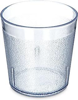 Carlisle 5529-8107 BPA Free Plastic Stackable Tumbler, 9 oz., Clear (Pack of 6)
