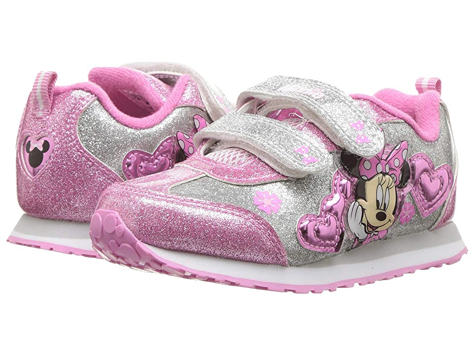 Josmo Kids Minnie Heart Jogger (Toddler/Little Kid) (White/Pink) Girls Shoes