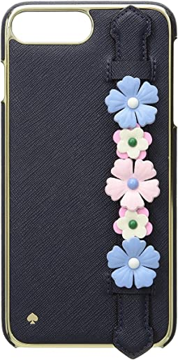 Floral Hand Strap Stand Phone Case for iPhone 8 Plus