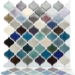 STICKGOO Premium Peel and Stick Tile Backsplash, Arabesque Self Adhesive Wall Tiles, Stick on Backsplash for Kitchen & Bathroom, Pack of 6