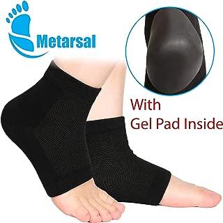 Metarsal Moisturizing Gel Heel Socks with Silicone Gel Pad for Dry Cracked Heel, Washable Reusable Open Toe Ultimate Treatment Helps Repair Dry Heels, Rough Calluses, Dry Skin for Man Women (1 pair)