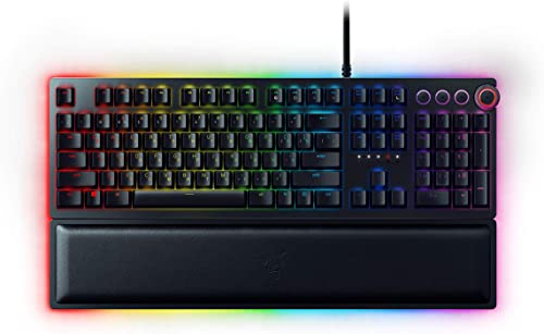 Razer Huntsman Elite Gaming Keyboard: Fastest Keyboard Switches Ever - Clicky Optical Switches - Chroma RGB Lighting ...