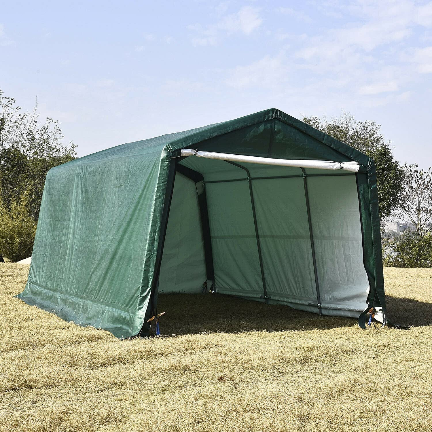 HUIJK Max Ranking TOP16 67% OFF Storage Sheds 10'x15'x8' FT Shed Te Carport Canopy