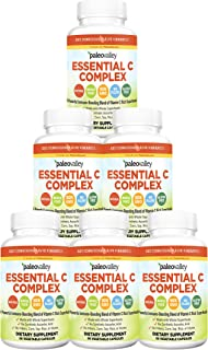 Paleovalley: Essential C Complex - Vitamin C Food Supplement with Organic Superfoods for Immune Support - 6 Pack - 450 mg ...