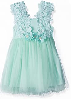 Elegant Feast Baby Girls Princess Lace Flower Tulle Tutu Gown Formal Party Dress