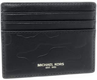 Michael Kors Men's Camden Soft Leather Tall Card Case Wallet Black!