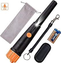 SUNPOW Metal Detector Pinpointer IP68 Waterproof Handheld Pin Pointer Wand with Belt..
