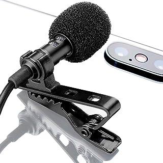 ميكروفون لافلير التلبيب لهاتف آيفون X 8 7 بلس 6 6s 5 5s / iOS/Android   Mini Lav Mic مع مشبك على YouMic