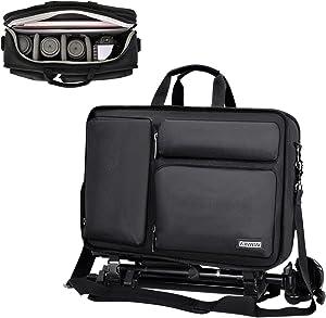 CADeN Camera Backpack Bag for DSLR/SLR Mirrorless Cameras, Camera Case Shoulder Bag with Laptop Compartment 14