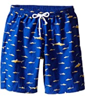 Oscar de la Renta Childrenswear - Shark Classic Swim Shorts (Toddler/Little Kids/Big Kids)