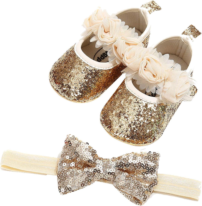 Yartina Infant Baby Girls Mary Flats Princess Dress Jane Sparkly depot 2021 spring and summer new