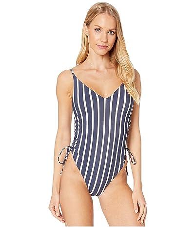 Roxy Print Beach Classics Fashion One-Piece Swimsuit (Evening Sand Sporty Stripes) Women