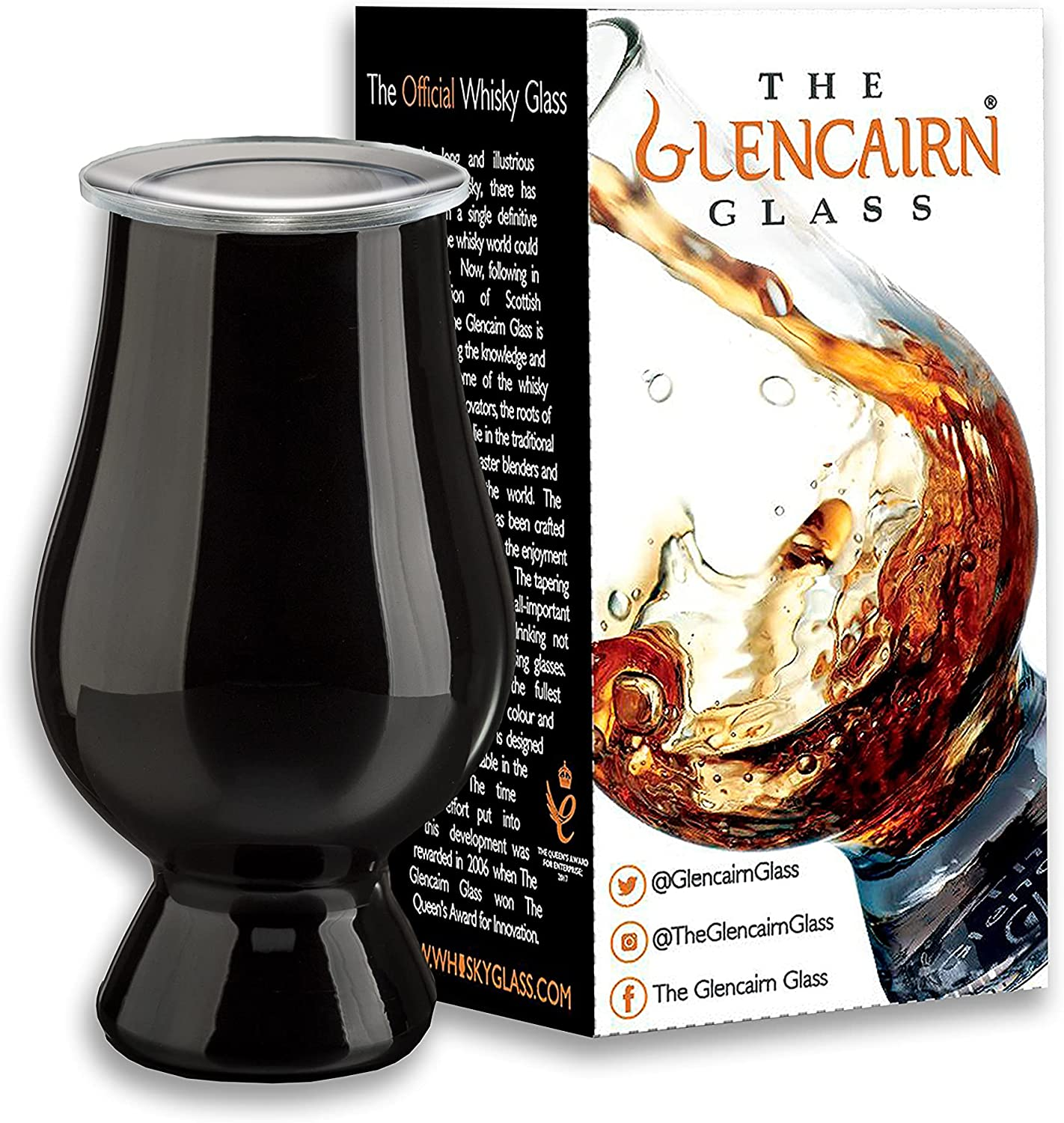 Black Glencairn 5% Max 88% OFF OFF Whisky Glass in Gift … + Cover Watch Carton