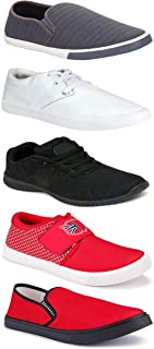 WORLD WEAR FOOTWEAR Sports Running Shoes/Casual/Sneakers/Loafers Shoes for MenMulticolors (Combo-(5)-1219-1221-1140-749-1018)