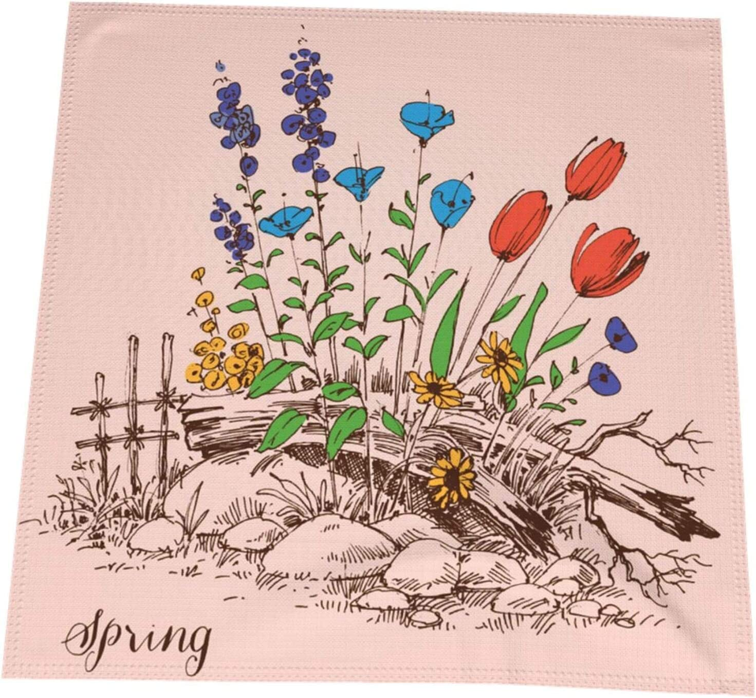 FRSH MNT mart Garden OFFicial Spring Everyday Use Quality Napkin Premium Cloth